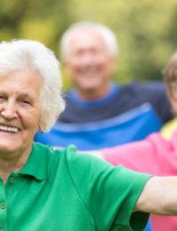 Retirement community yoga